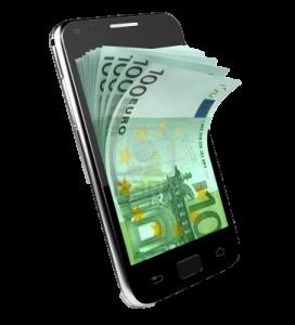 Casino, geld op mobiel